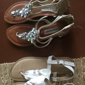 2 Pairs Size 3 Girls Sandals Steve Madden Cat Jack